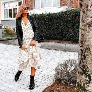 NWT Zara Polka Dot Tiered Dress